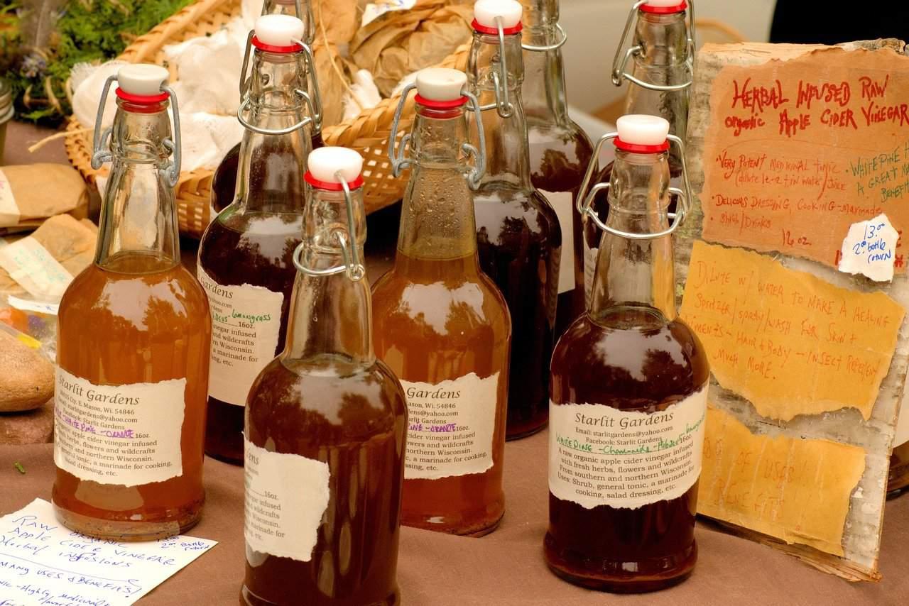 apple cider vinegar, food, harvest