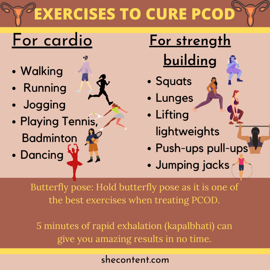 EXERCISES TO CURE PCOD IN INDIAN WOMEN