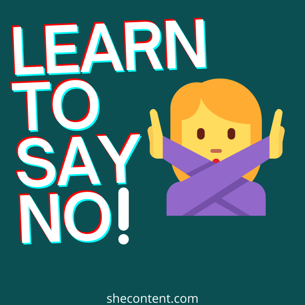 learn to say no for self love