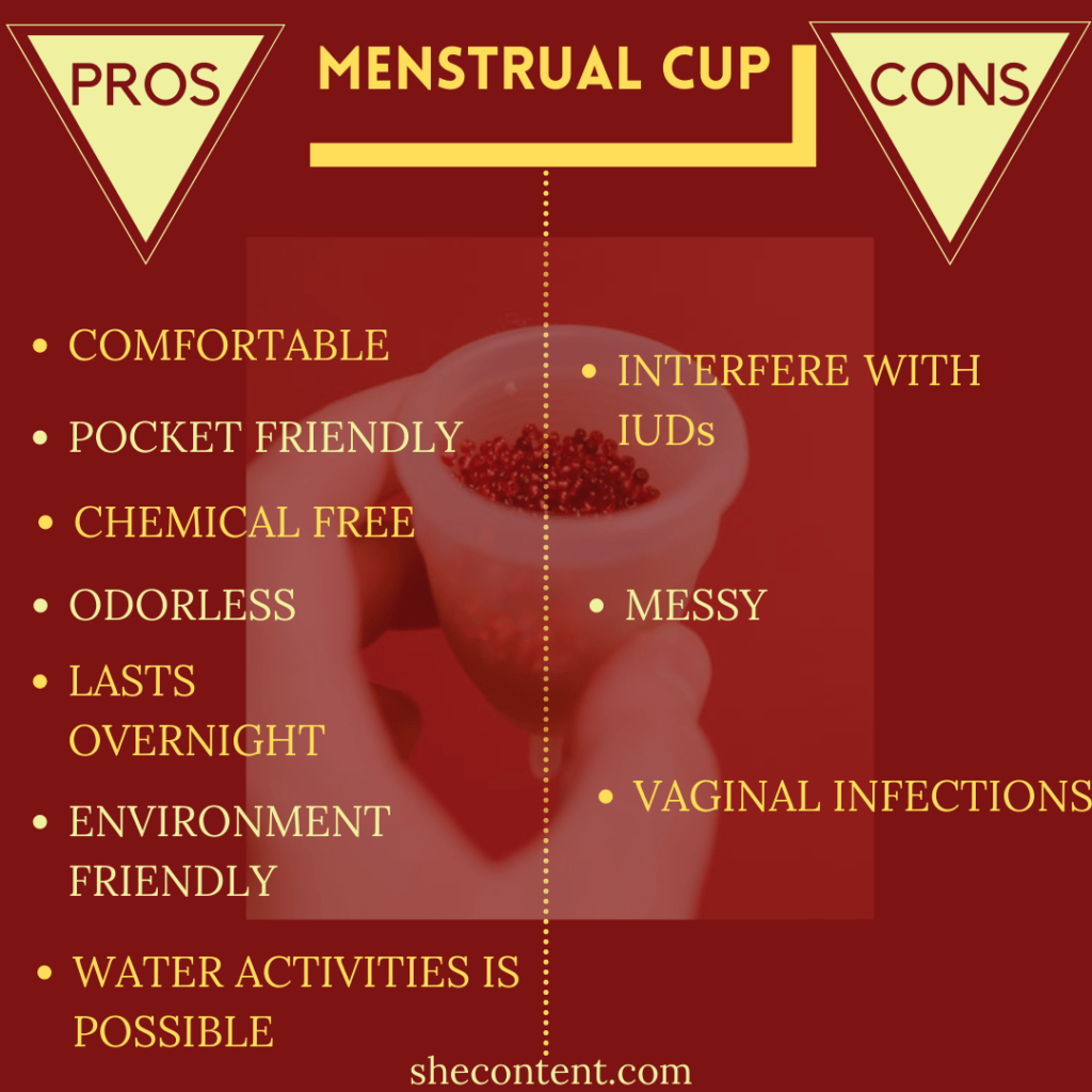 pros and cons of menstrual cups