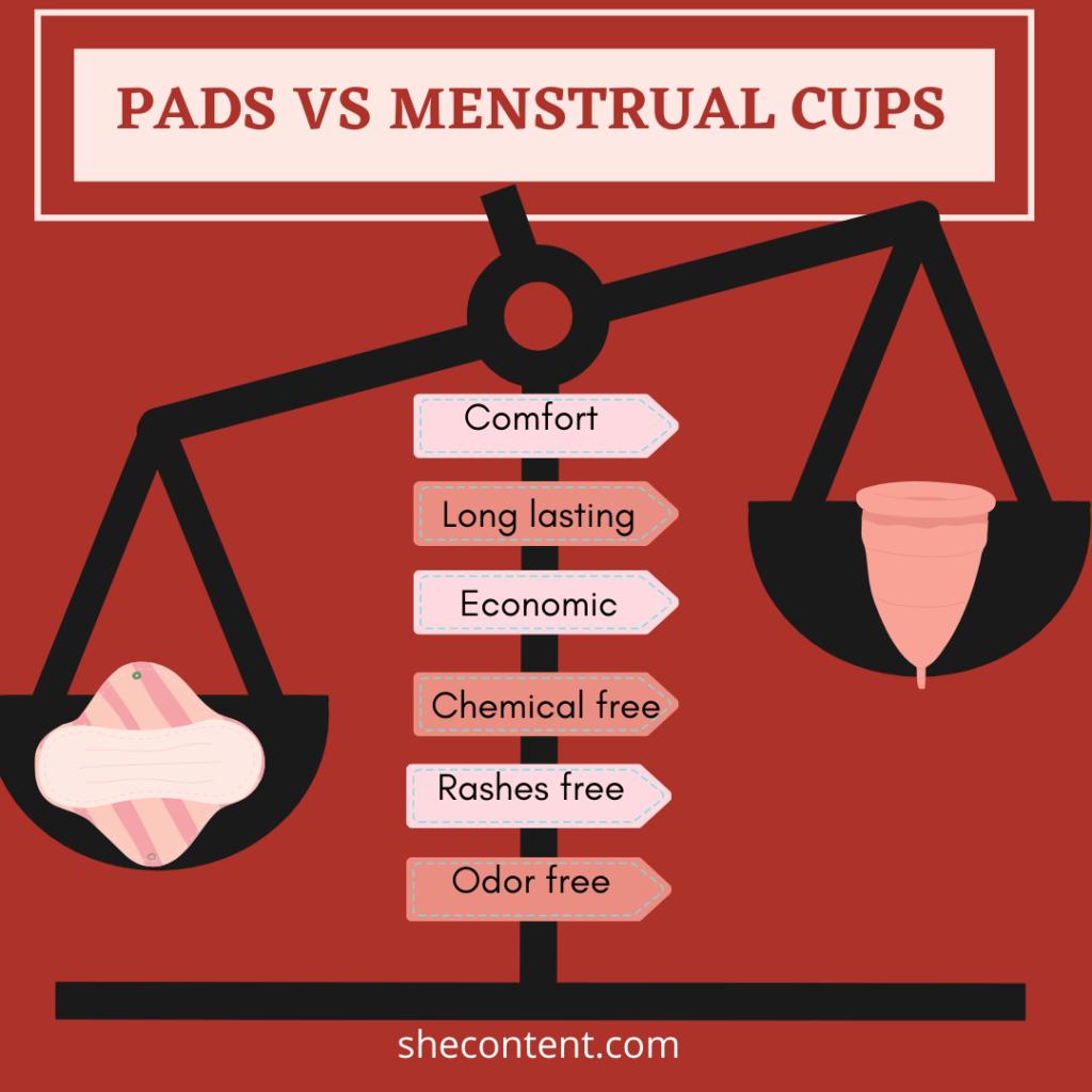 pads vs menstrual cup