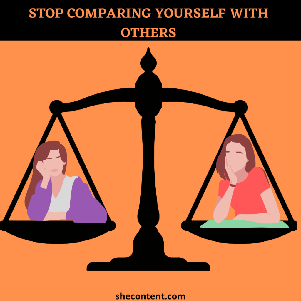 stop comparing yourself with others for self love