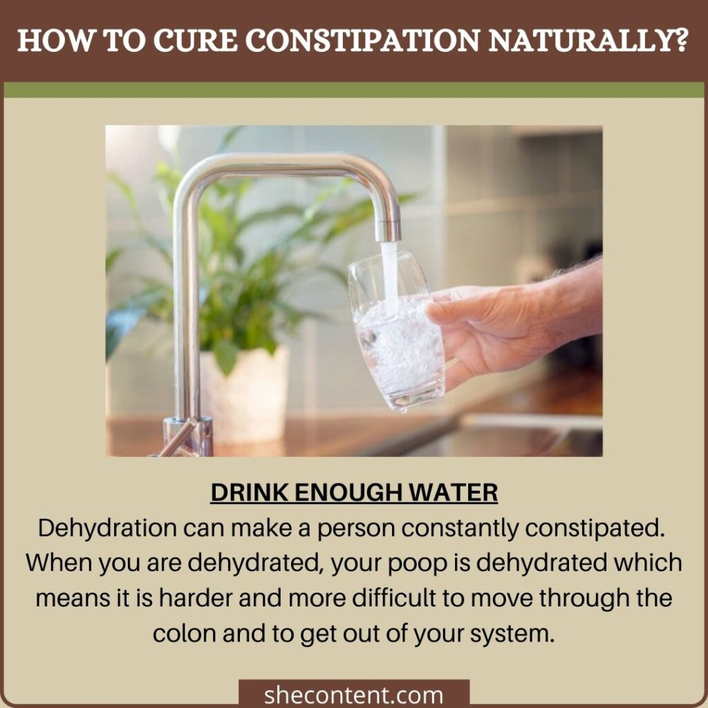 cure constipation naturally: stay hydrated