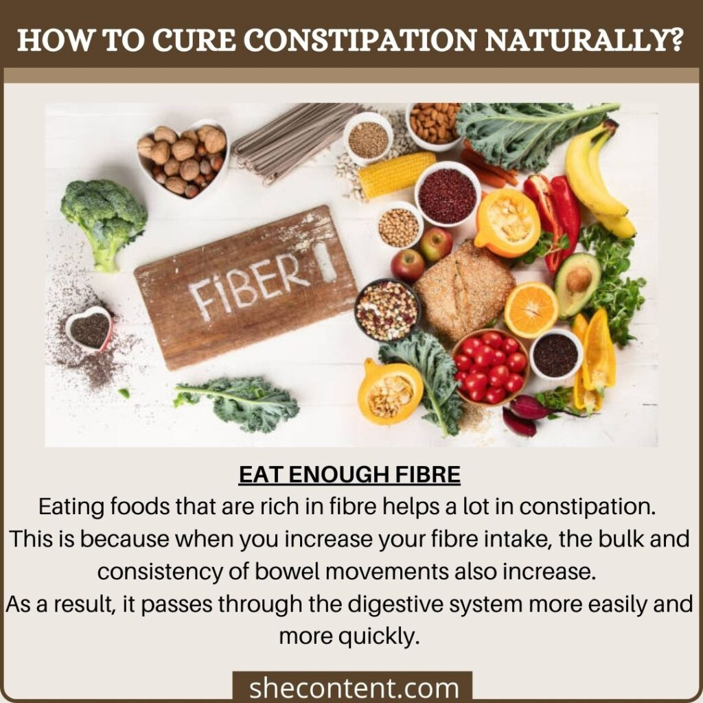 cure constipation naturally: eat more fibres