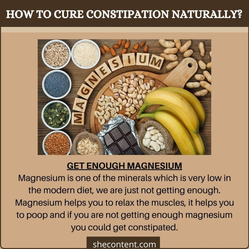 cure constipation naturally: eat enough magnesium