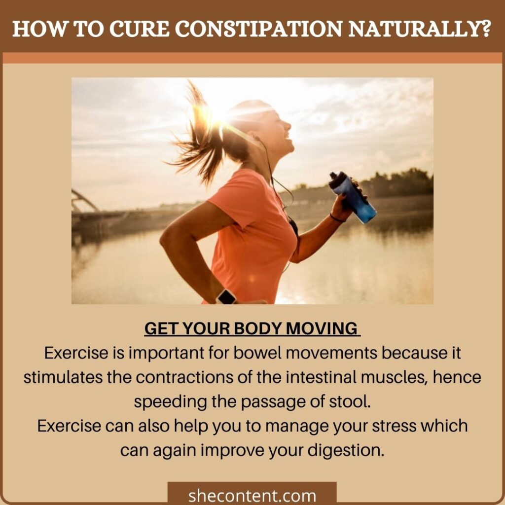 cure constipation naturally: move your body