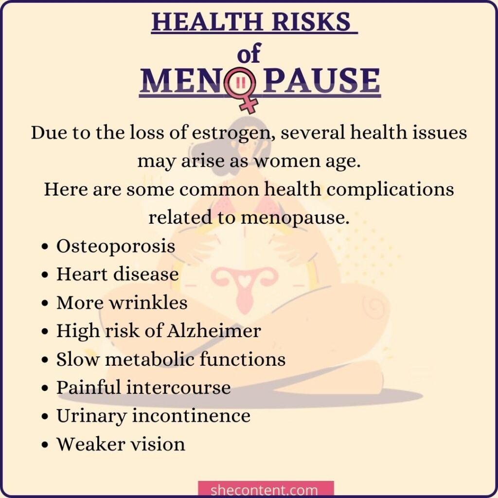 health risks of menopause
