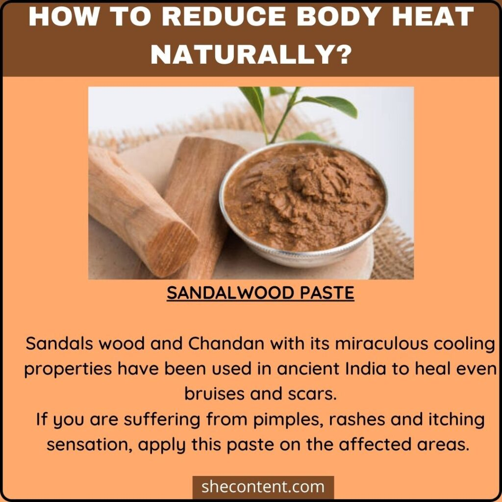 how to reduce body heat naturally?