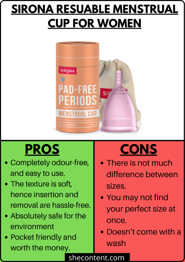 7 BEST MENSTRUAL CUPS IN INDIA SIRONA RESUABLE MENSTRUAL CUP FOR WOMEN