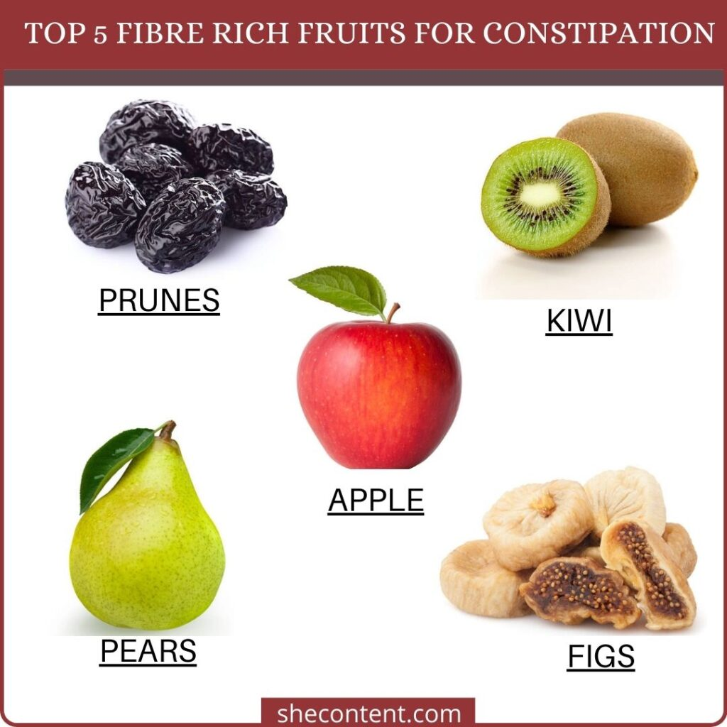 cure constipation naturally with these 5 fruits.