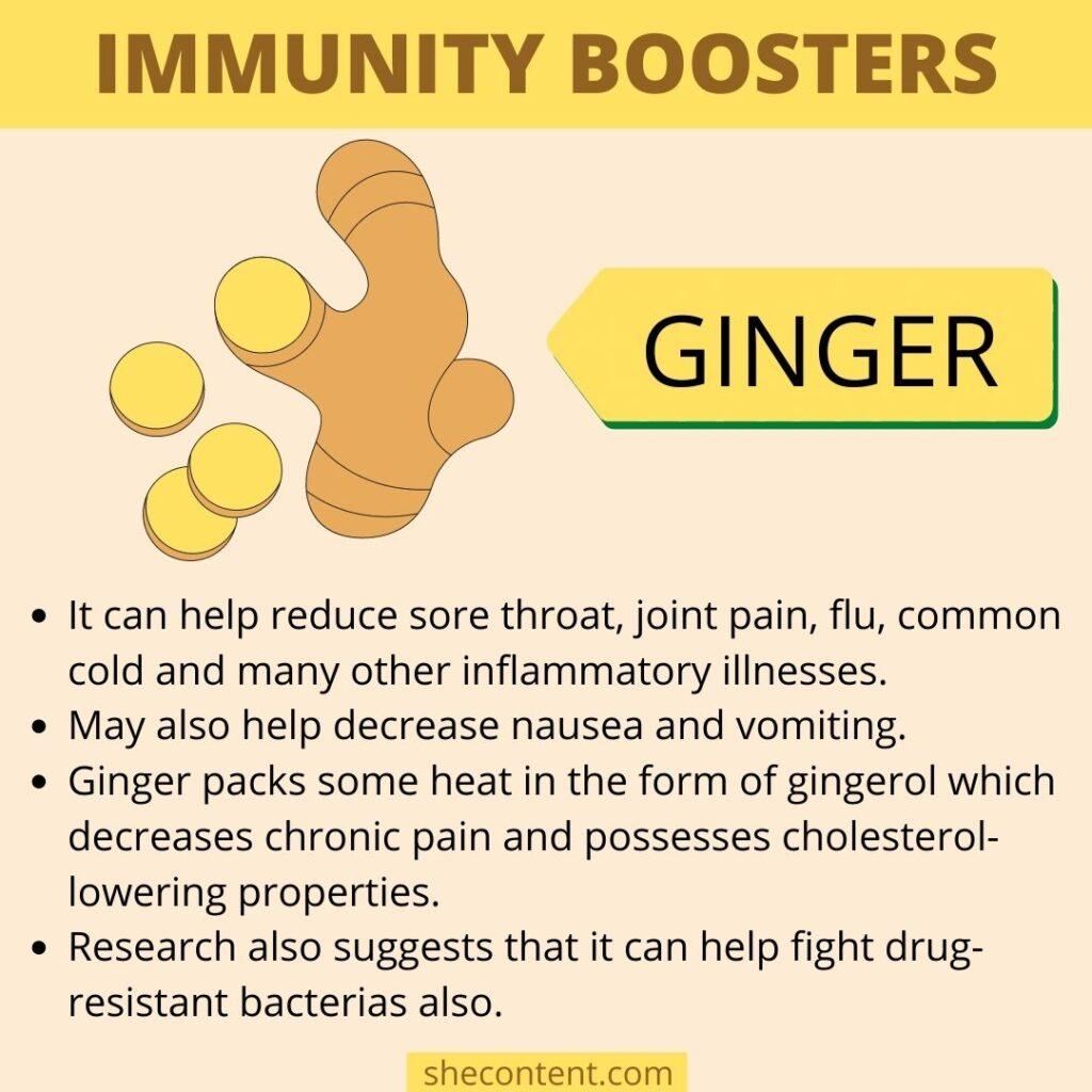 Immunity booster foods- ginger