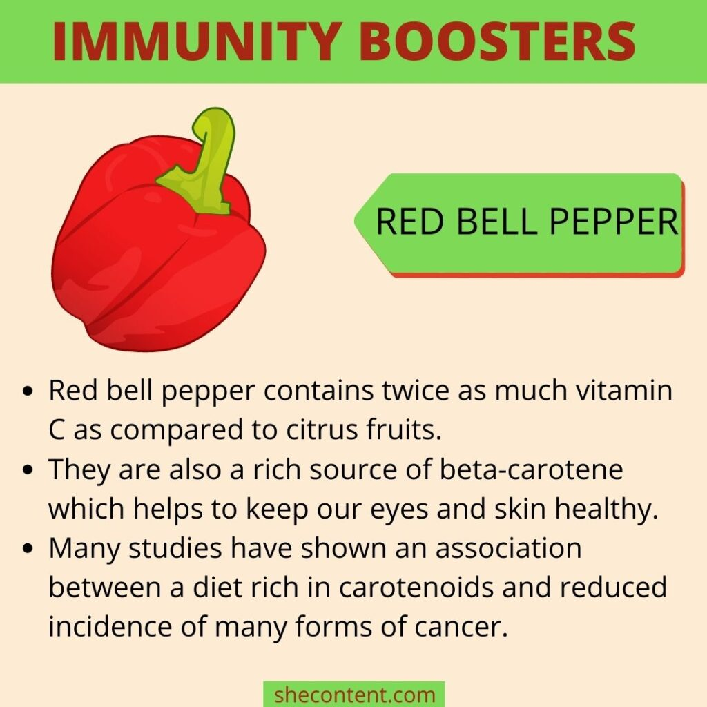 Immunity booster foods- red bell pepper