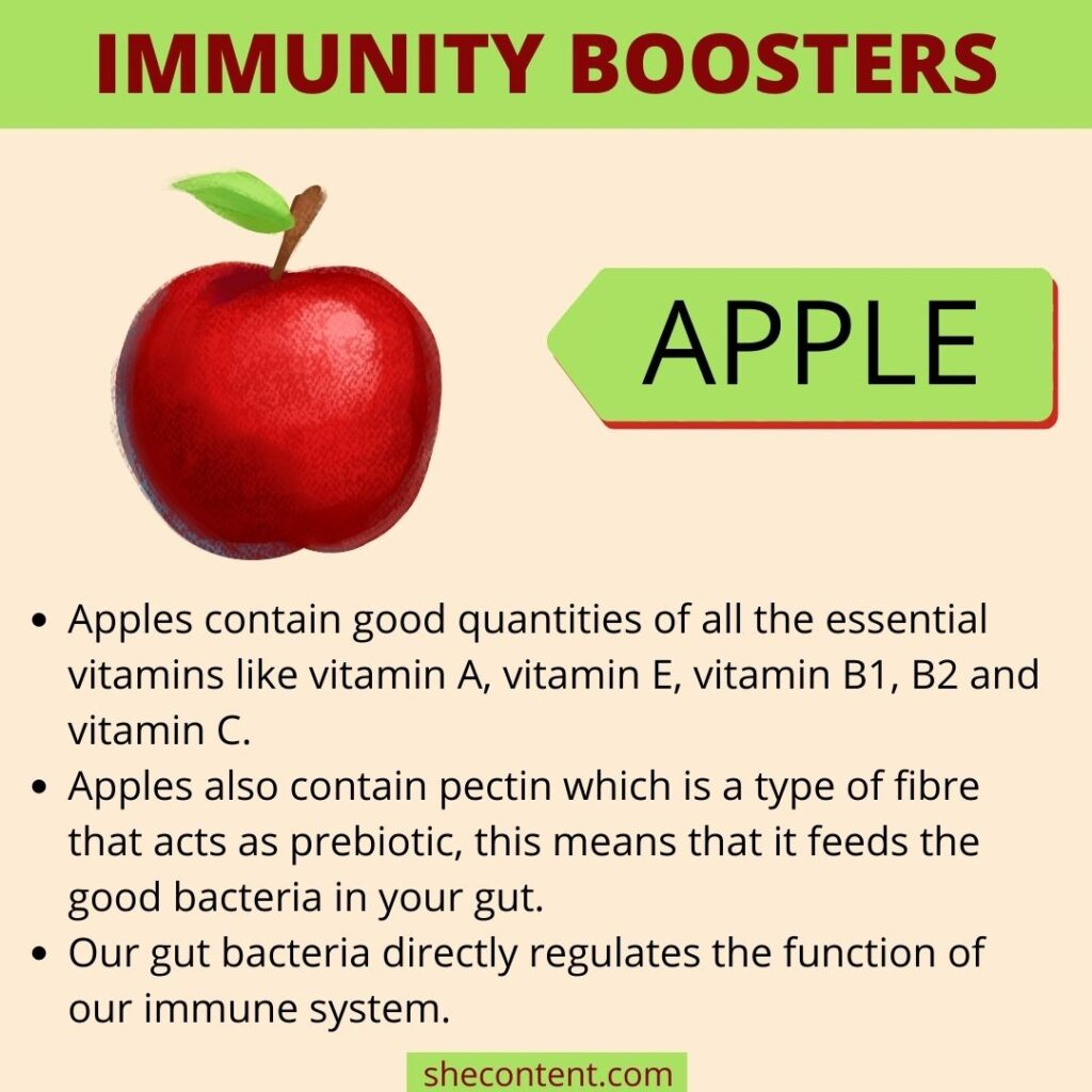 Immunity booster foods- apples